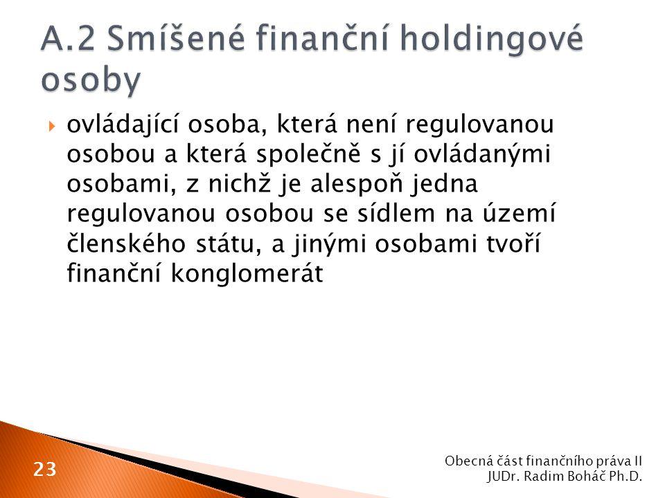 A.2 Smíšené finanční holdingové osoby