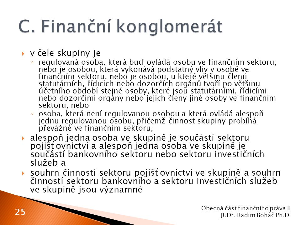 C. Finanční konglomerát