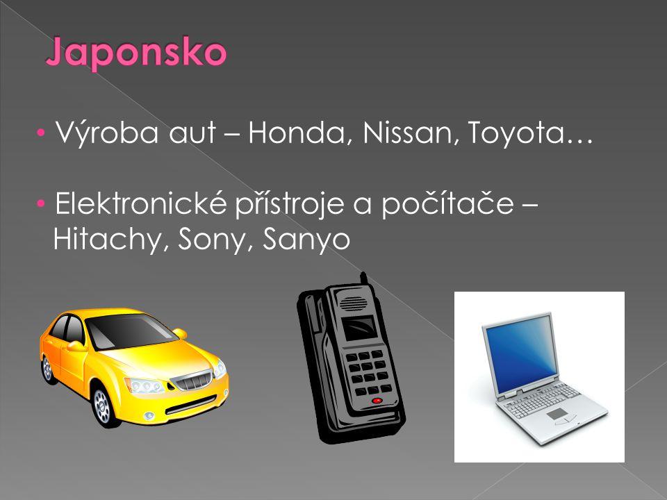 Japonsko Výroba aut – Honda, Nissan, Toyota…