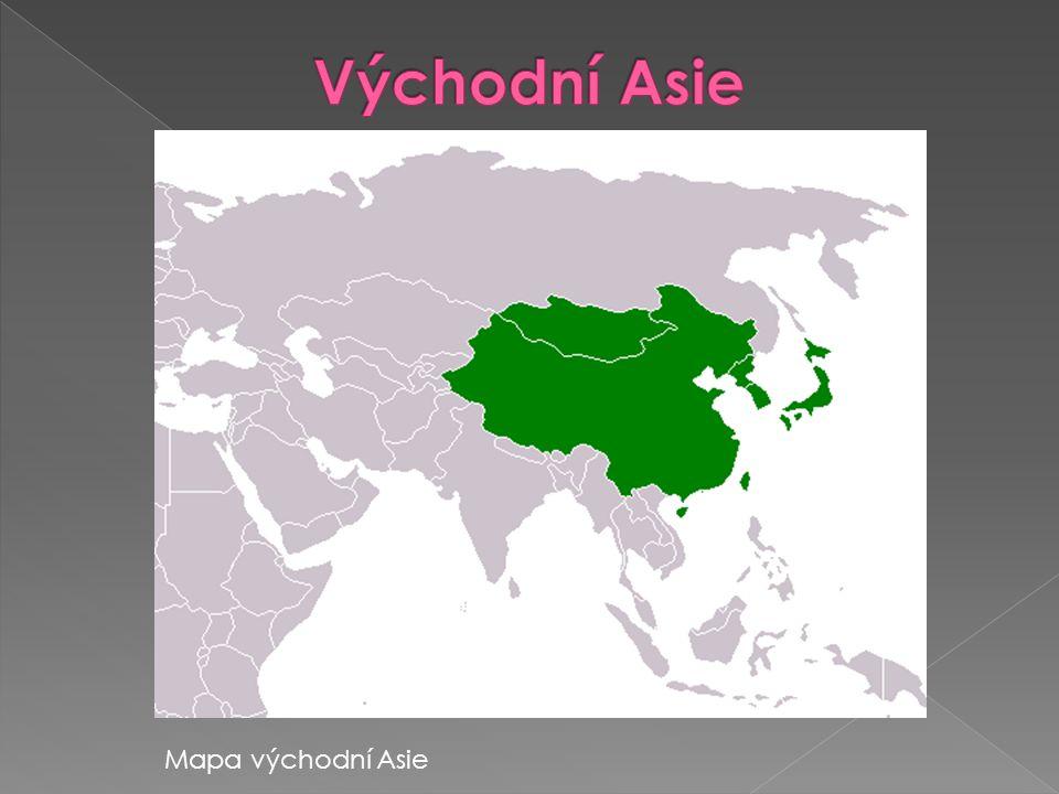 Východní Asie Mapa východní Asie