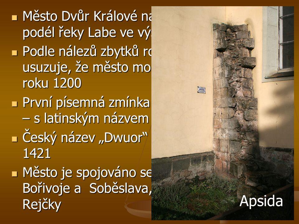 Město Dvůr Králové nad Labem leží v kotlině podél řeky Labe ve výšce 298 m nad mořem
