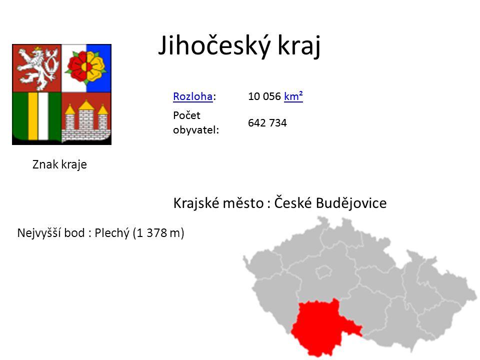 Jihočeský kraj Krajské město : České Budějovice Znak kraje