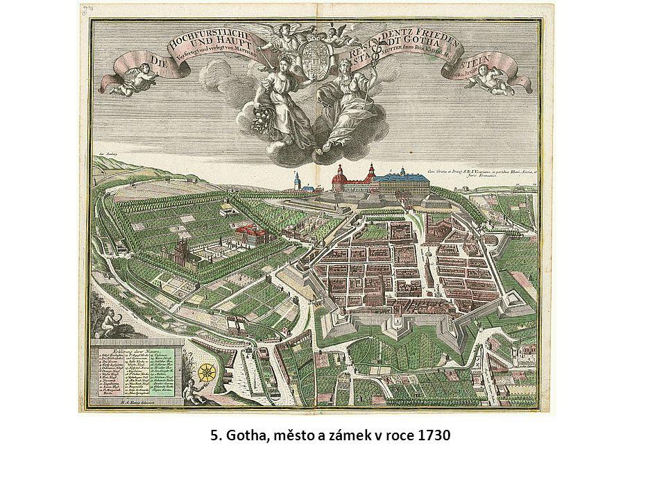 5. Gotha, město a zámek v roce 1730