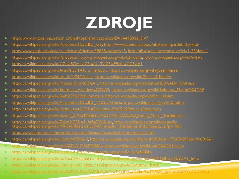 ZDROJE http://www.svozikemnacestach.cz/DesktopDefault.aspx tabID=3443&KrajID=7.