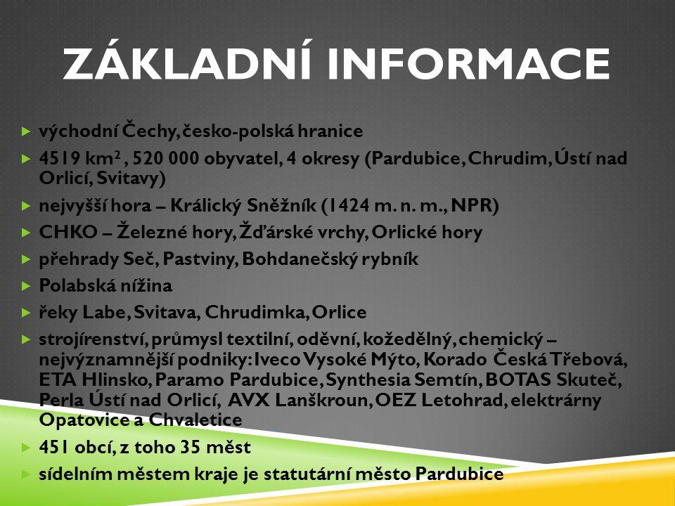 ZÁKLADNÍ INFORMACE východní Čechy, česko-polská hranice