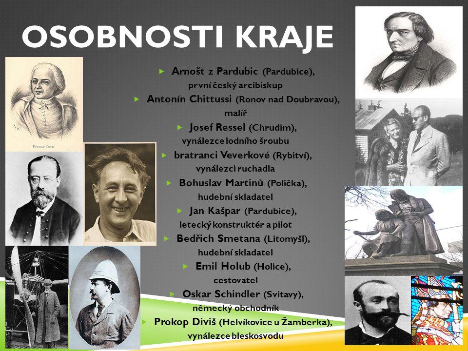 OSOBNOSTI KRAJE Arnošt z Pardubic (Pardubice),