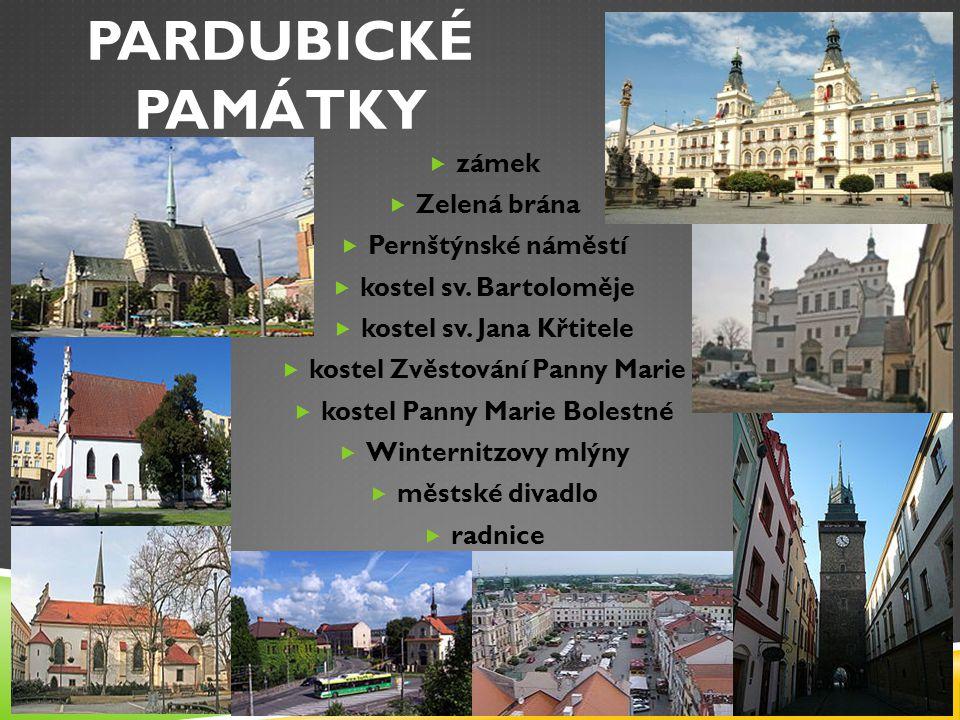 PARDUBICKÉ PAMÁTKY zámek Zelená brána Pernštýnské náměstí