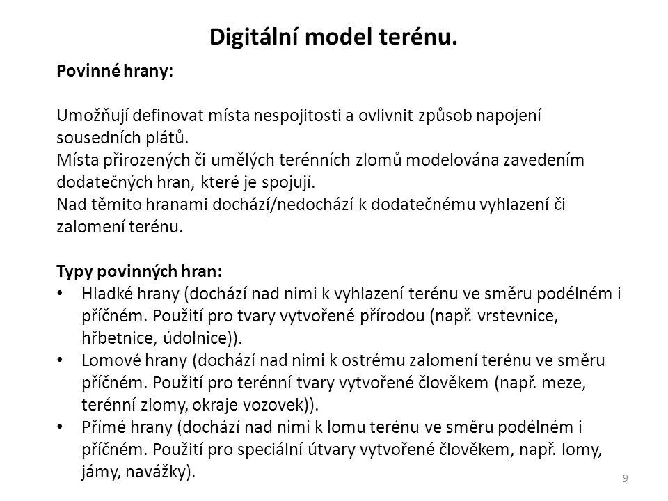 Digitální model terénu.