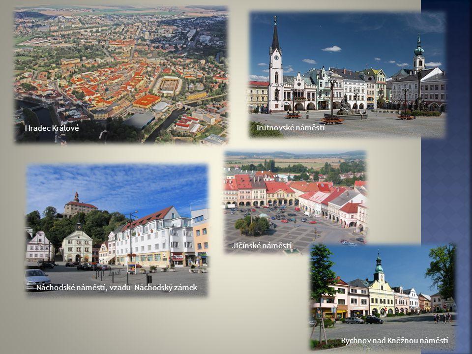 Hradec Králové Trutnovské náměstí. Jičínské náměstí.