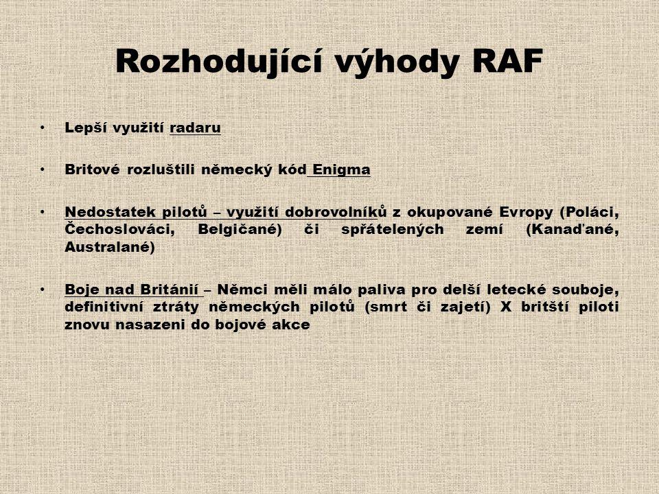 Rozhodující výhody RAF