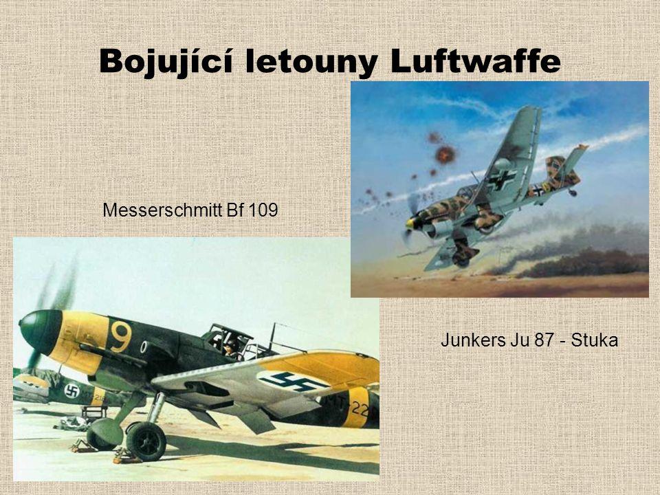 Bojující letouny Luftwaffe