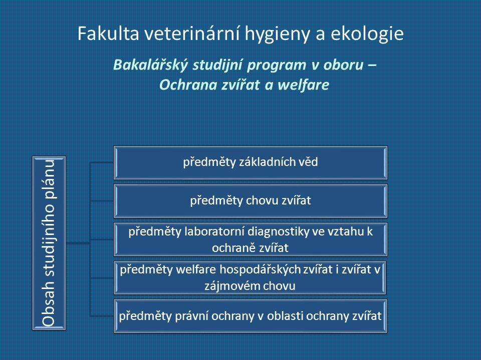 Bakalářský studijní program v oboru – Ochrana zvířat a welfare