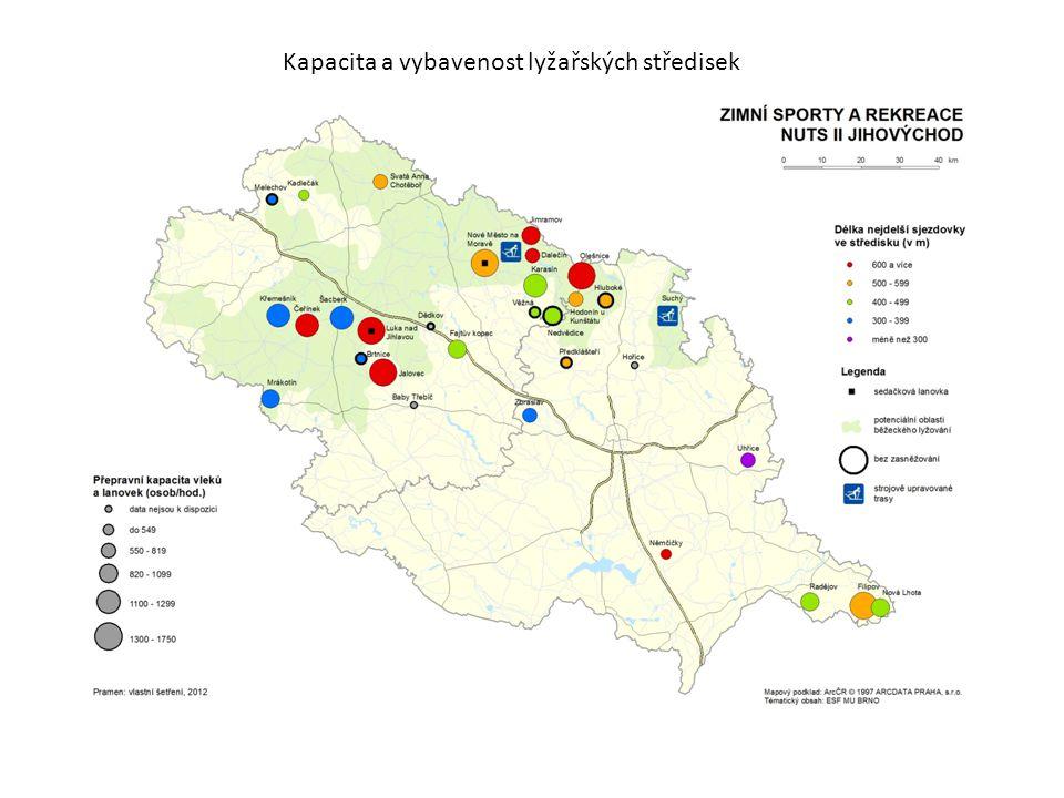Kapacita a vybavenost lyžařských středisek