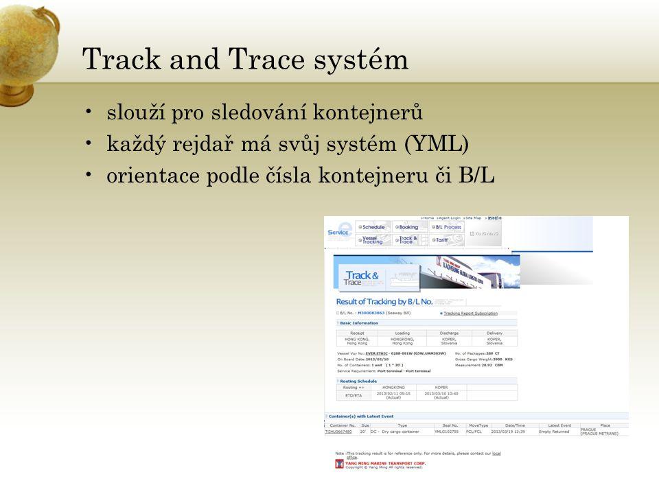 Track and Trace systém slouží pro sledování kontejnerů