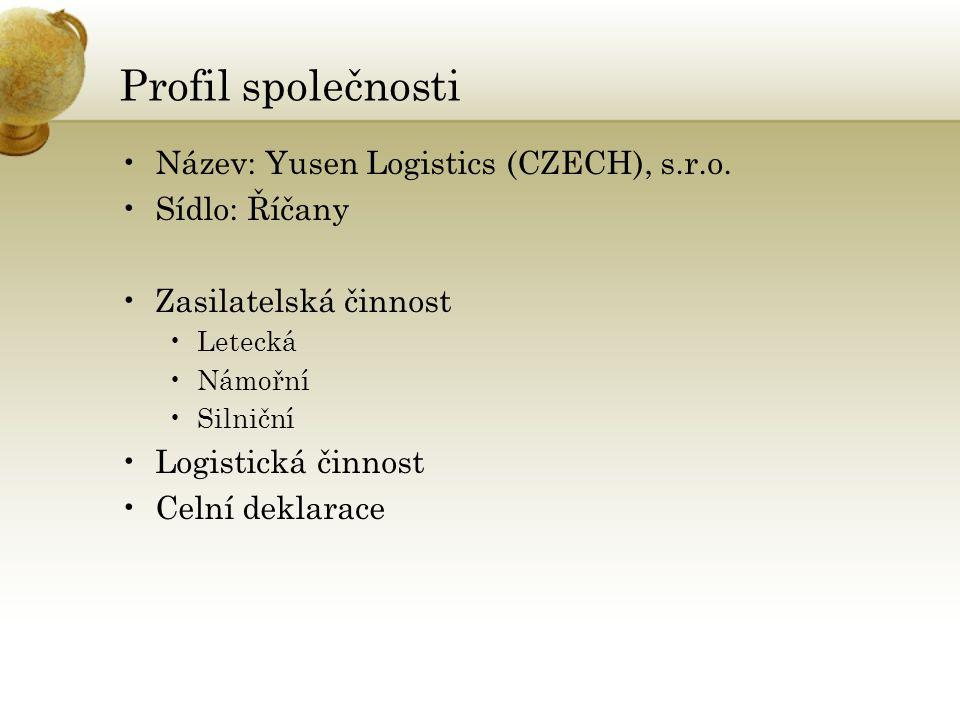 Profil společnosti Název: Yusen Logistics (CZECH), s.r.o.