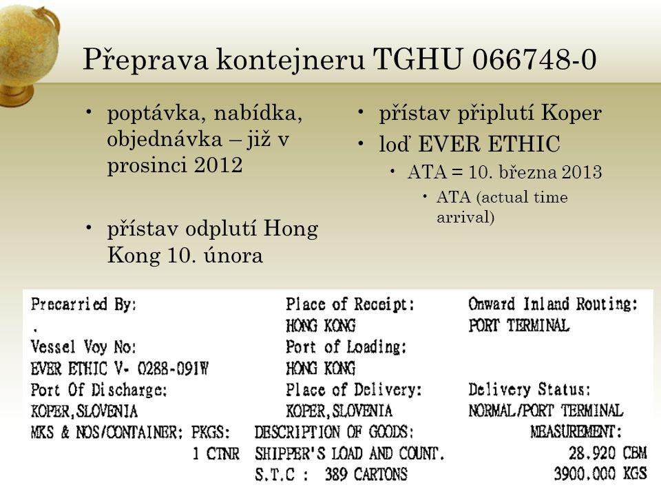 Přeprava kontejneru TGHU 066748-0