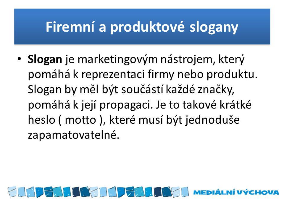 Firemní a produktové slogany