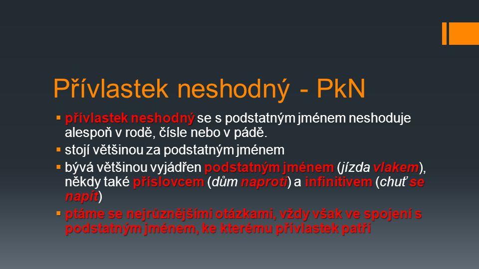 Přívlastek neshodný - PkN