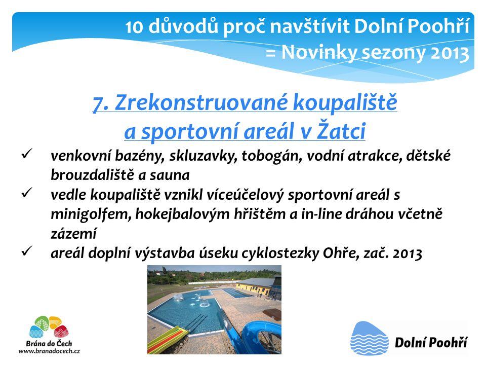 7. Zrekonstruované koupaliště a sportovní areál v Žatci