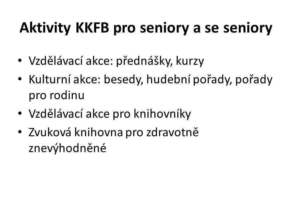 Aktivity KKFB pro seniory a se seniory