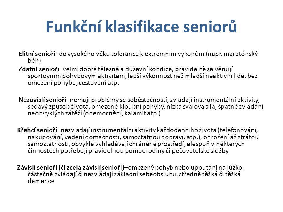 Funkční klasifikace seniorů