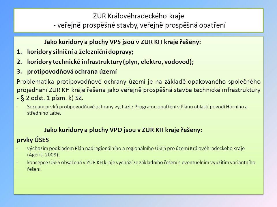 ZUR Královéhradeckého kraje - veřejně prospěšné stavby, veřejně prospěšná opatření