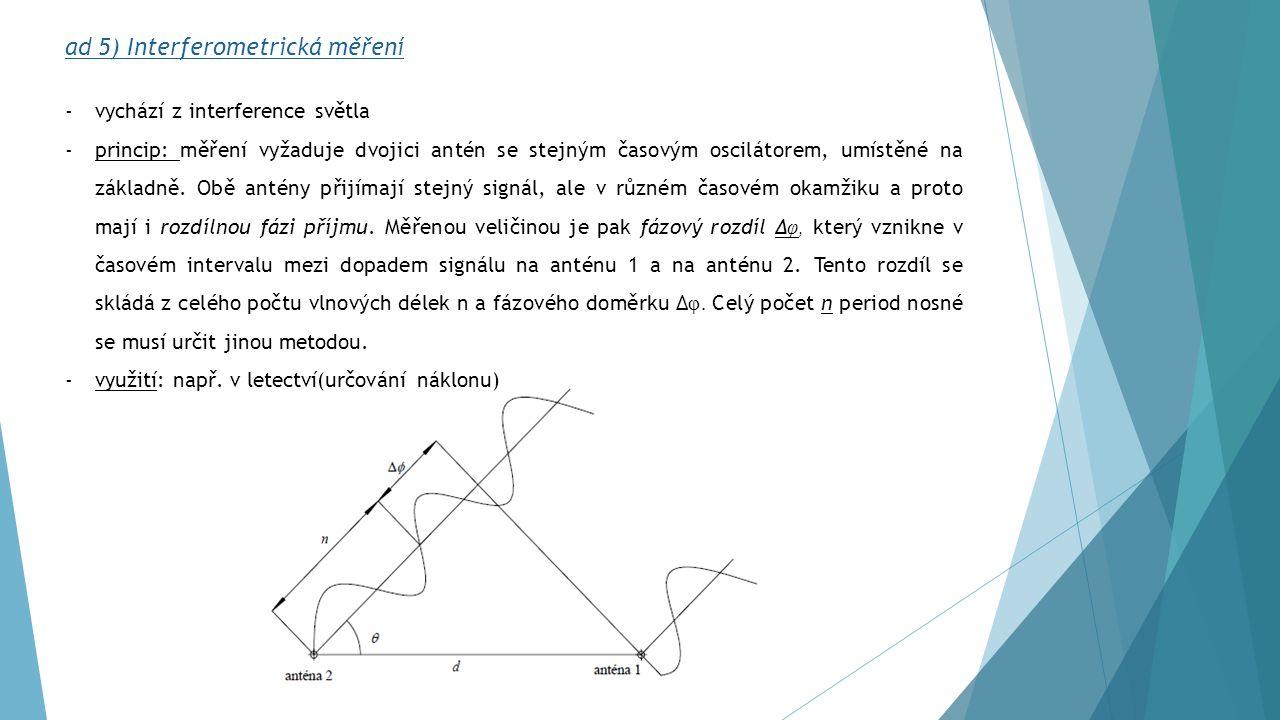 ad 5) Interferometrická měření