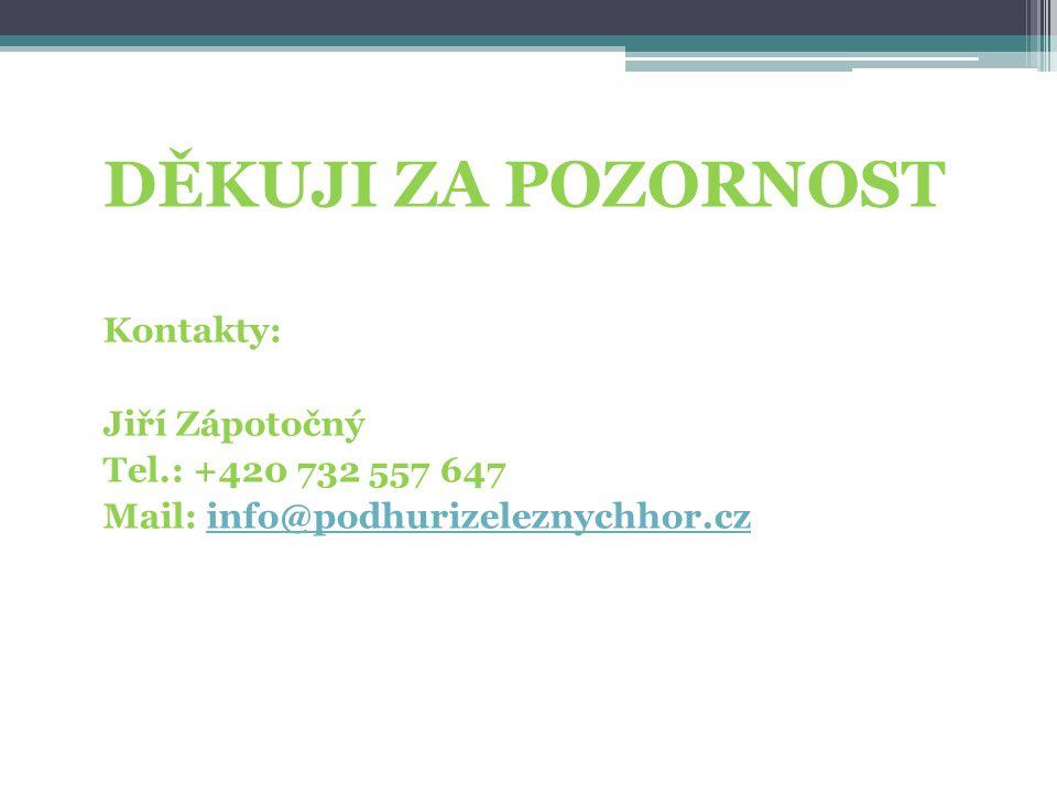 DĚKUJI ZA POZORNOST Kontakty: Jiří Zápotočný Tel.: +420 732 557 647