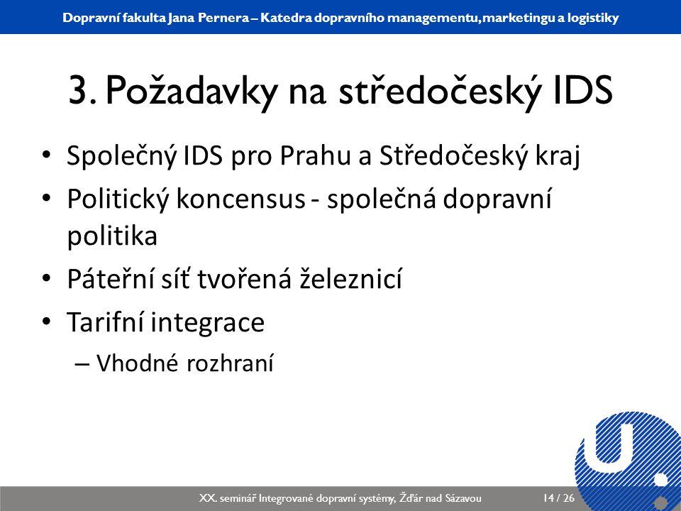 3. Požadavky na středočeský IDS