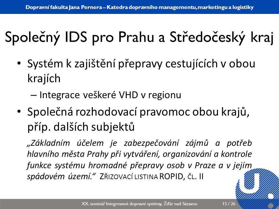 Společný IDS pro Prahu a Středočeský kraj