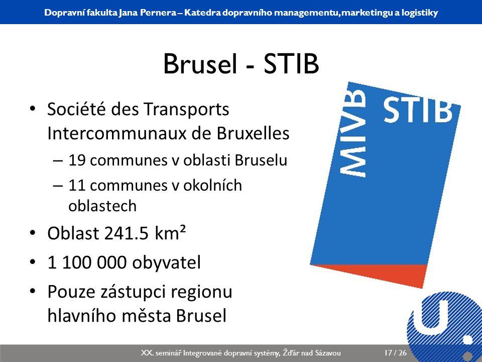 Brusel - STIB Société des Transports Intercommunaux de Bruxelles