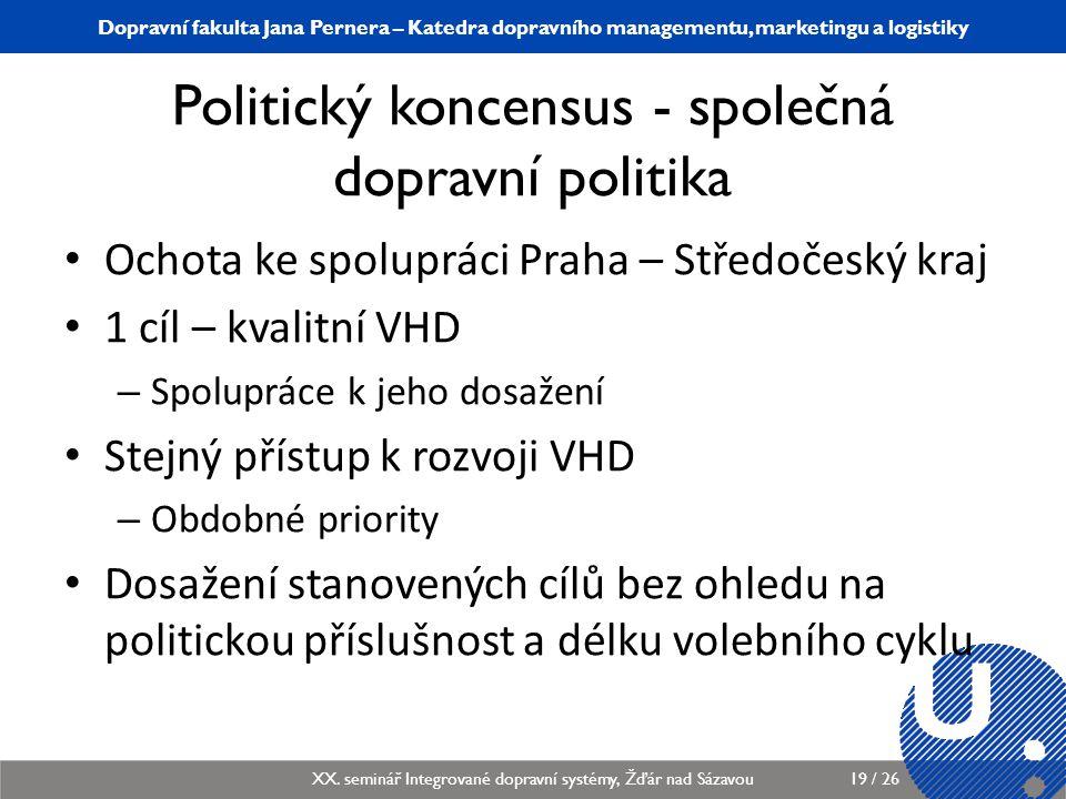Politický koncensus - společná dopravní politika