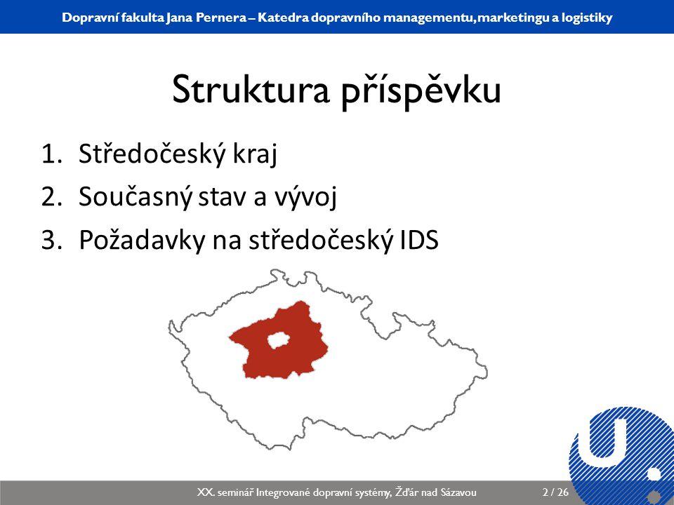 Struktura příspěvku Středočeský kraj Současný stav a vývoj