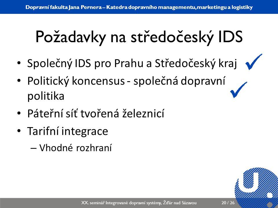 Požadavky na středočeský IDS