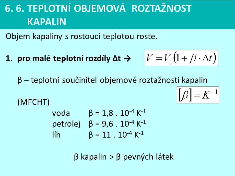 β kapalin > β pevných látek