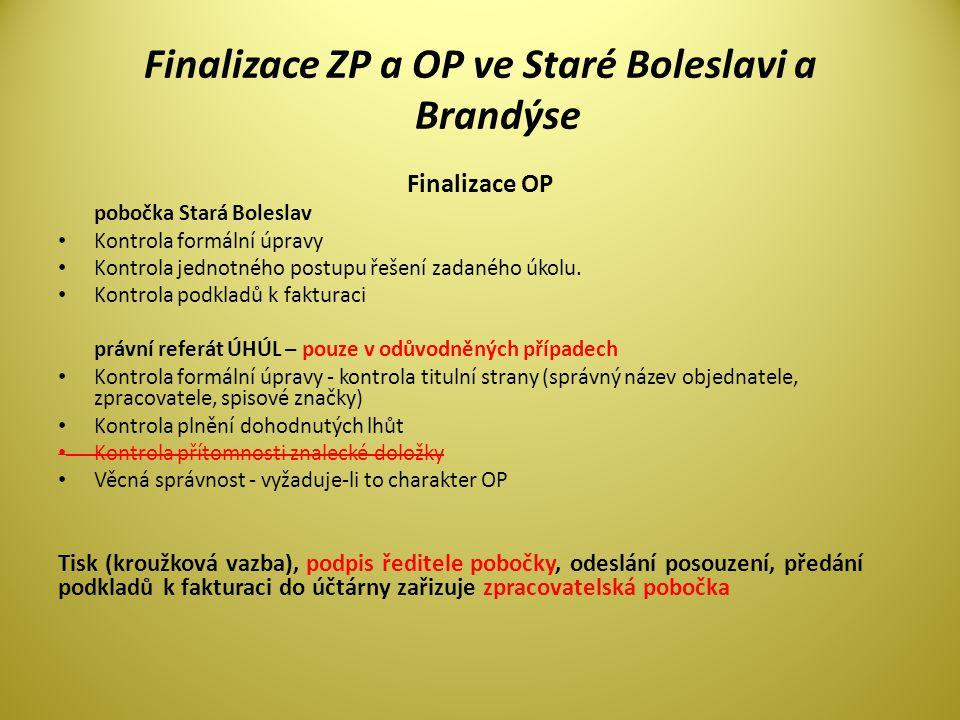 Finalizace ZP a OP ve Staré Boleslavi a Brandýse
