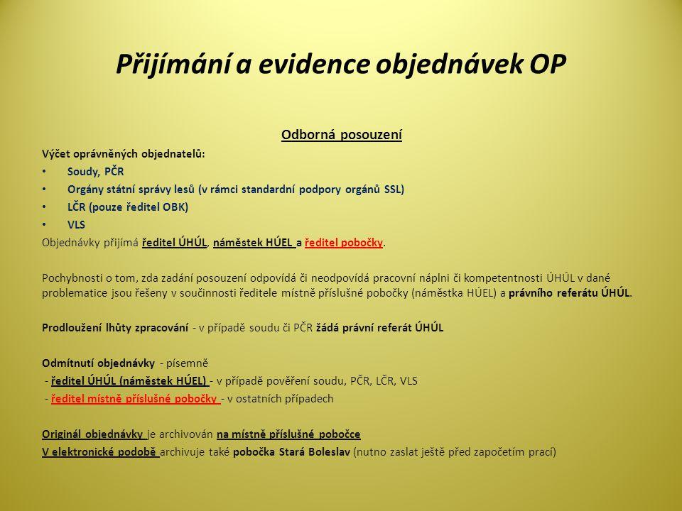 Přijímání a evidence objednávek OP