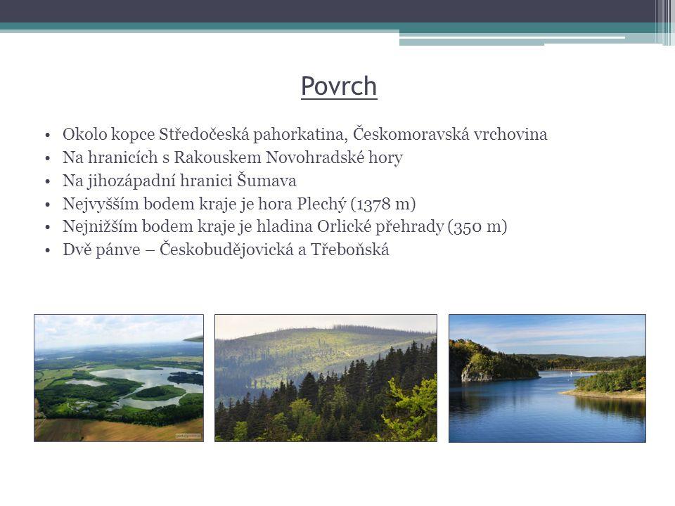 Povrch Okolo kopce Středočeská pahorkatina, Českomoravská vrchovina