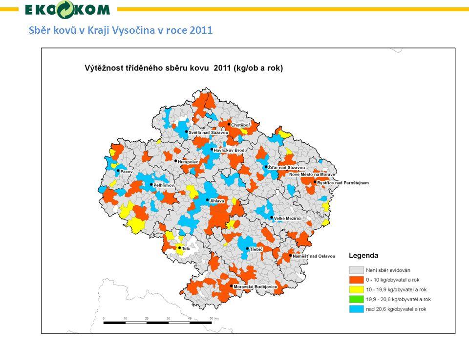 Sběr kovů v Kraji Vysočina v roce 2011