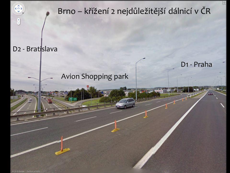 Brno – křížení 2 nejdůležitější dálnicí v ČR