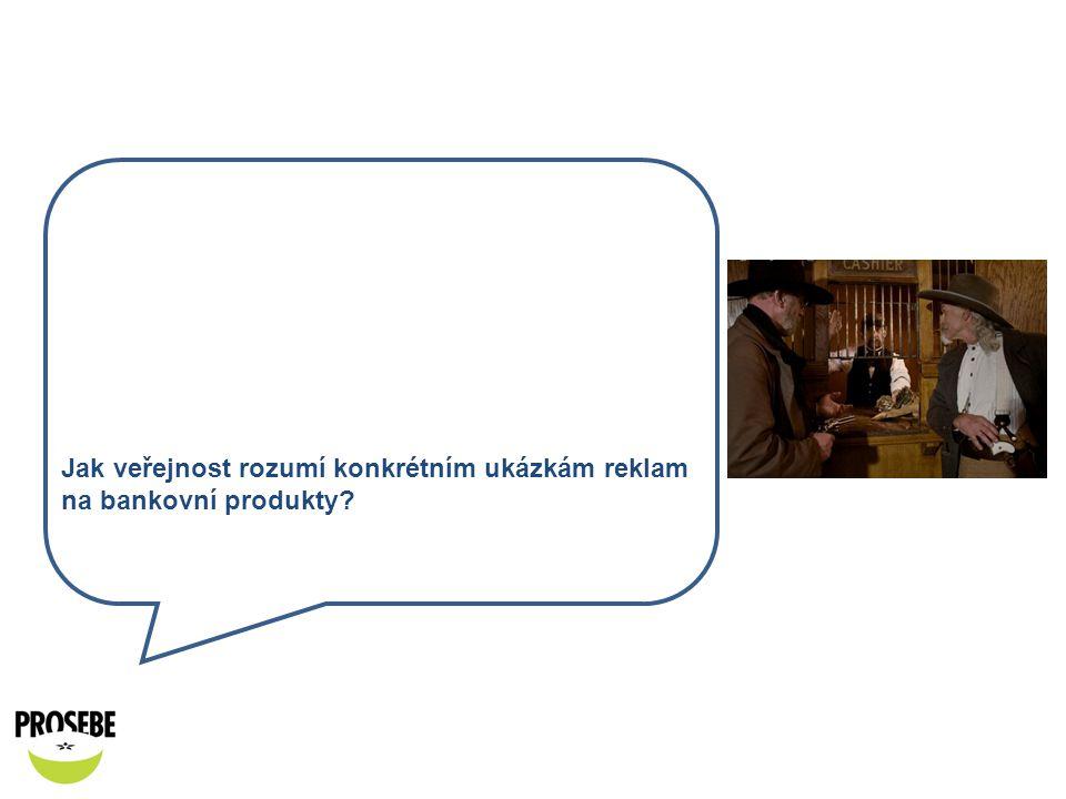 Jak veřejnost rozumí konkrétním ukázkám reklam na bankovní produkty