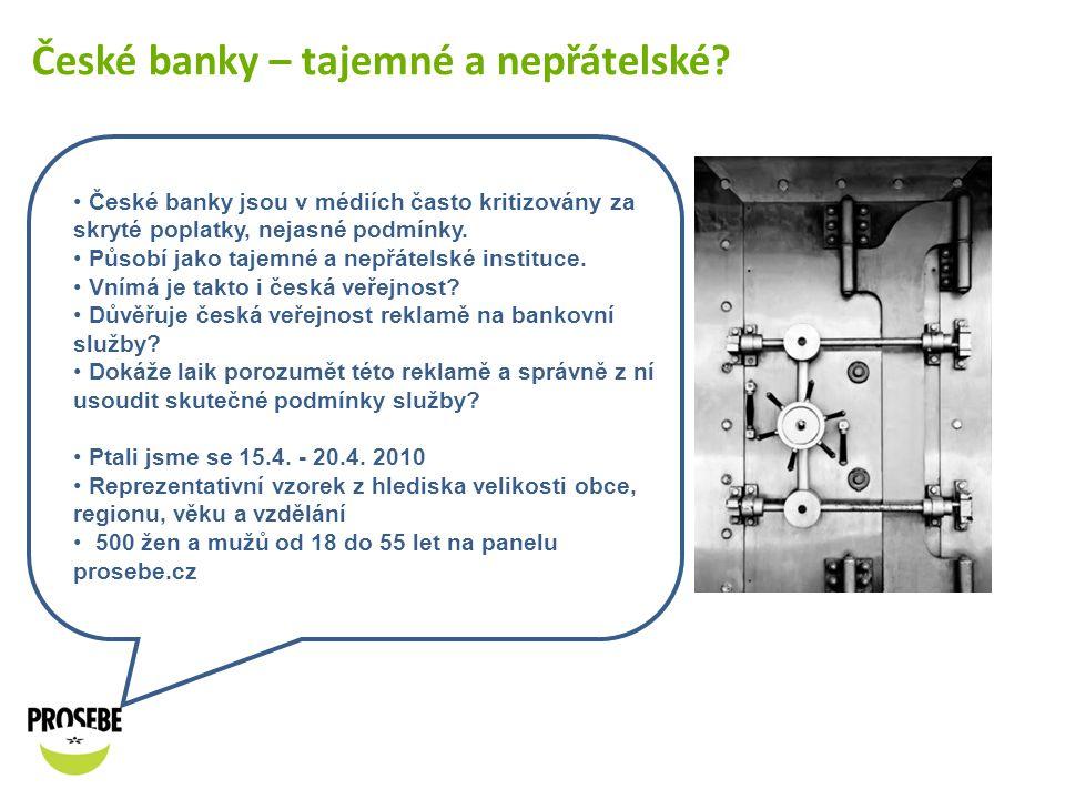 České banky – tajemné a nepřátelské