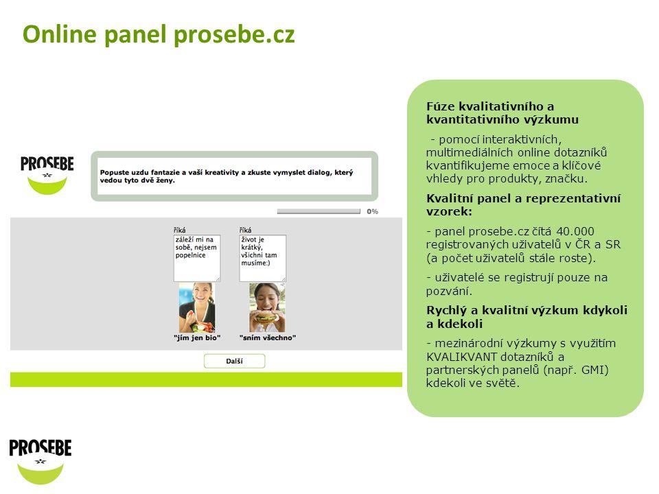 Online panel prosebe.cz