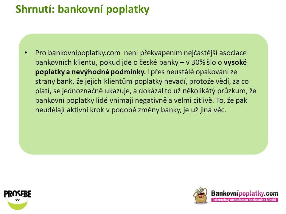 Shrnutí: bankovní poplatky