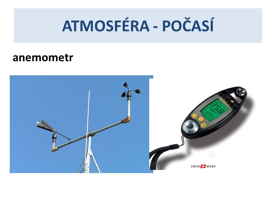 ATMOSFÉRA - POČASÍ anemometr