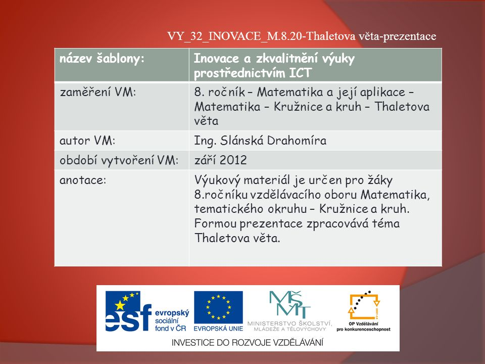 VY_32_INOVACE_M.8.20-Thaletova věta-prezentace
