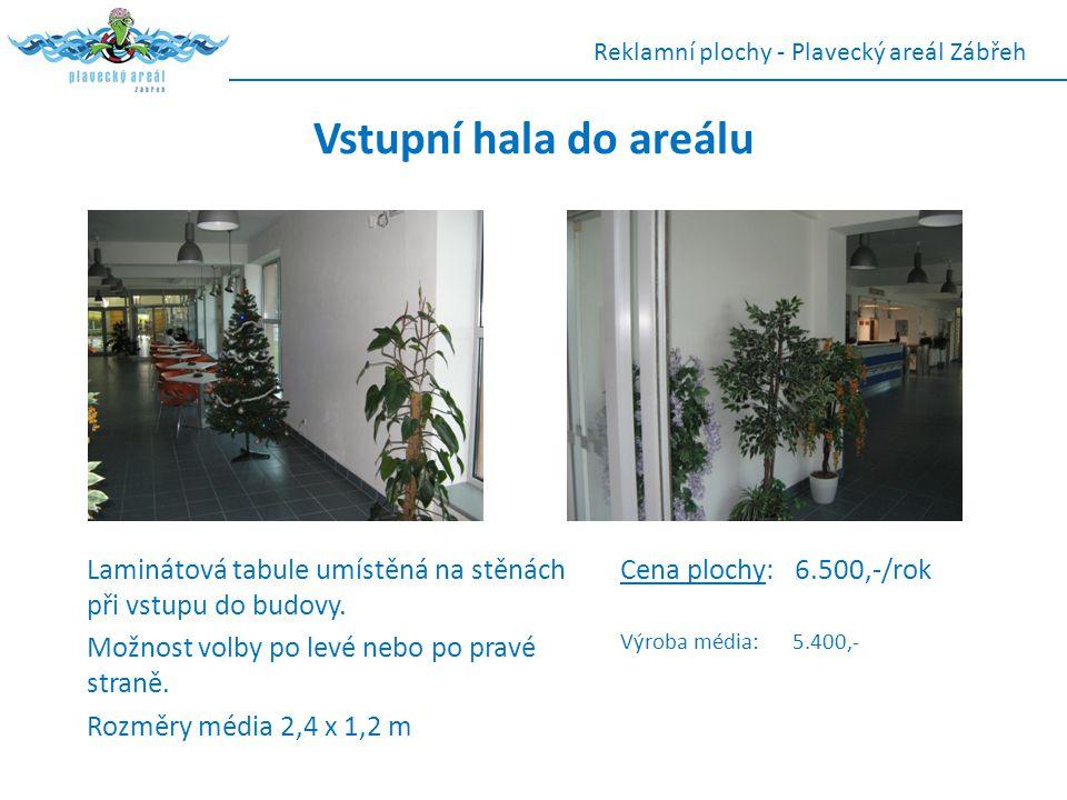 Reklamní plochy - Plavecký areál Zábřeh