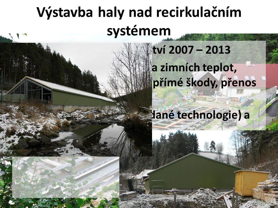 Výstavba haly nad recirkulačním systémem