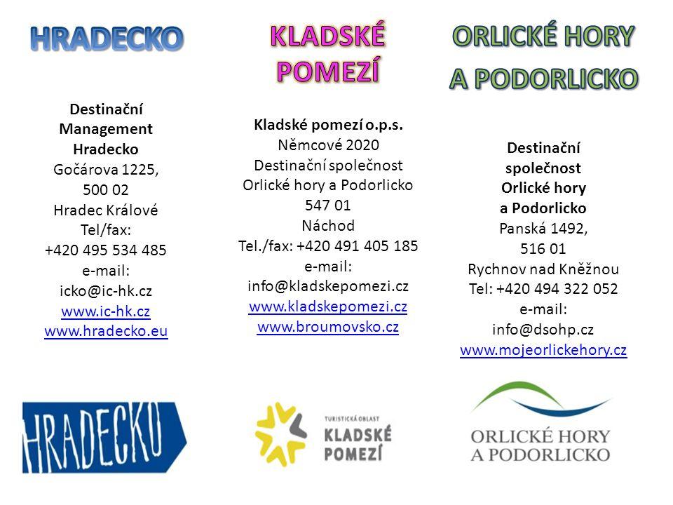 HRADECKO Destinační. Management. Hradecko. Gočárova 1225, 500 02. Hradec Králové. Tel/fax: +420 495 534 485.