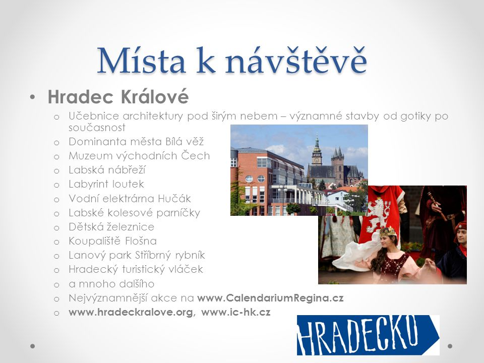 Místa k návštěvě Hradec Králové